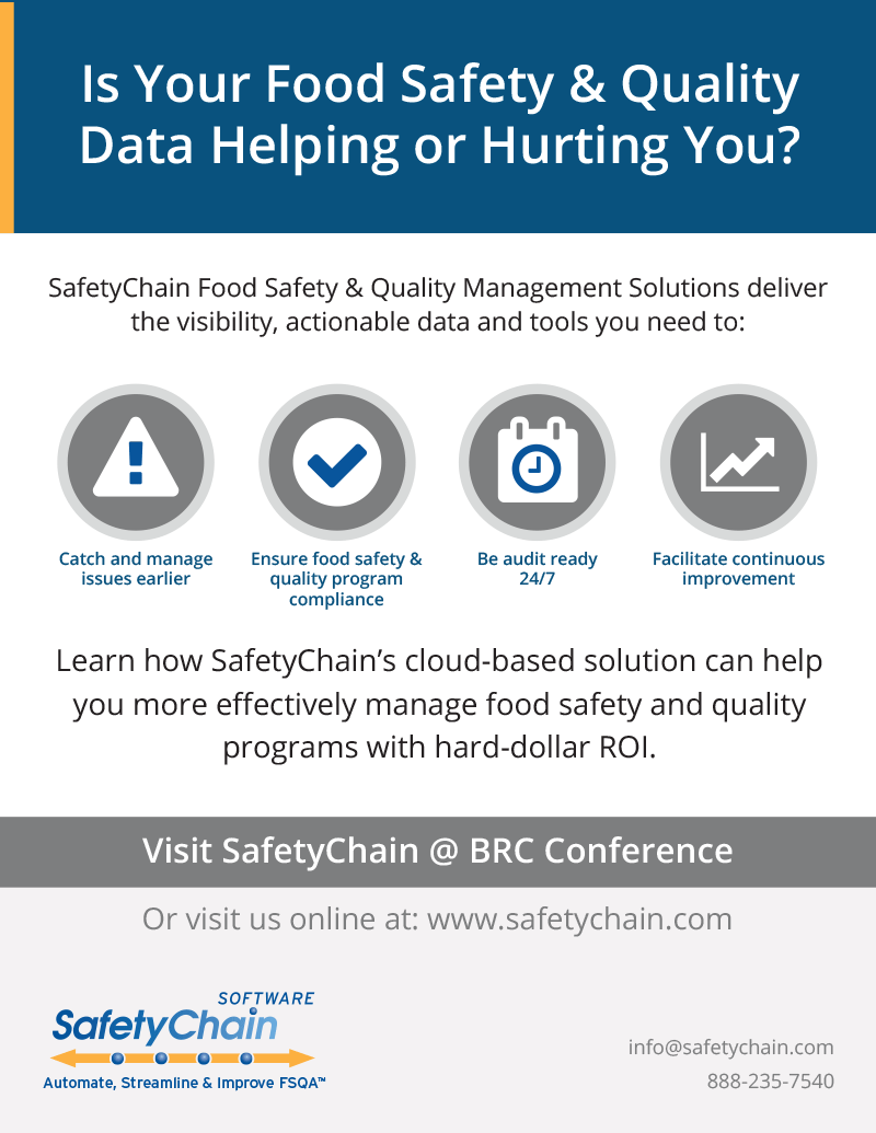 SafetyChain Software BRC Ad 2016