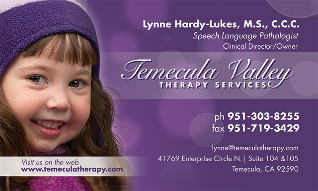 Temecula Valley Therapy Services Business Card